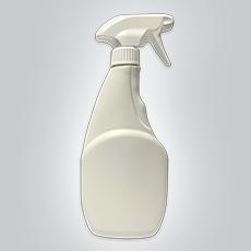 500ml White HDPE Bottle